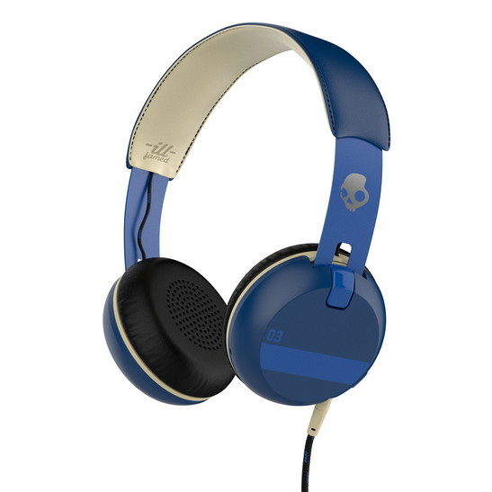 Skullcandy GRIND ON-EAR W/TAP TECH, Ill Famed/Royal/Blue