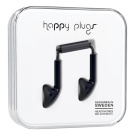 Happy Plugs Musta 3,5mm With Mic + Adapter