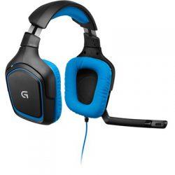 Logitech G430 Sininen, Musta