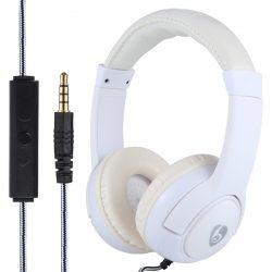 OVLENG HT32 valkoinen stereo headset