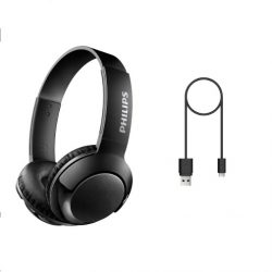 Philips Bass+ On-Ear Bluetooth Headset SHB3075BK