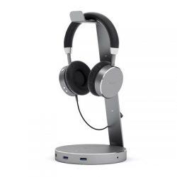 Satechi Usb 3.0 Hub Headset Stand Grey Harmaa