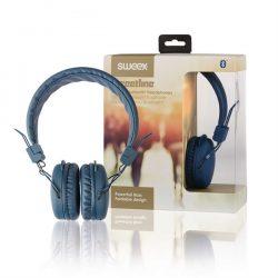 Sweex On-Ear Headphones Bluetooth Sininen