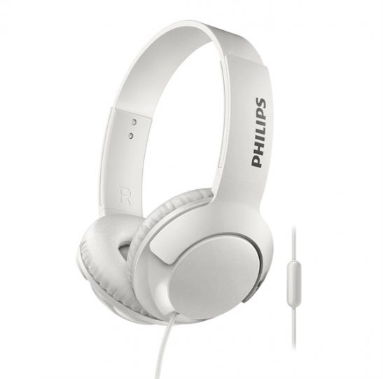 Philips Bass+ On-Ear Headset SHB3075WH