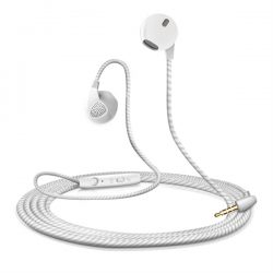 EarPlugs uulokkeet Mikrofonilla - Valkoinen