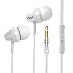 In-Ear Kuulokkeet Mikrofonilla - Valkoinen