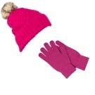 Kitsound Audio Beanie Headphones and Gloves Pink